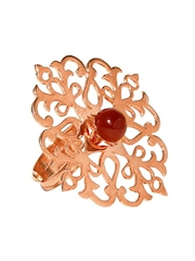 ahilya Rose Gold-Toned Sterling Silver Ring