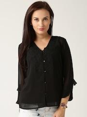 All About You from Deepika Padukone Black Sheer Shirt