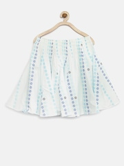 Tiny Girl Blue Floral Print Flared Skirt