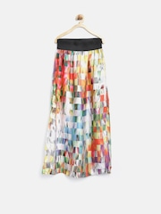 Tiny Girl Multicoloured Printed Side-Slit Maxi Skirt