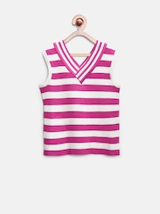 Tiny Girl Pink & White Striped Top