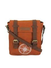 The House Of Tara Unisex Rust Orange Messenger Bag