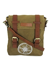 The House Of Tara Unisex Khaki Messenger Bag