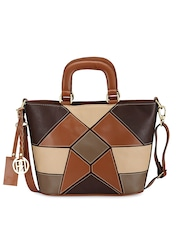 Phive Rivers Tan Brown Leather Handbag