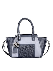 Phive Rivers Navy Leather Handbag