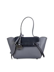 Phive Rivers Grey Leather Handbag