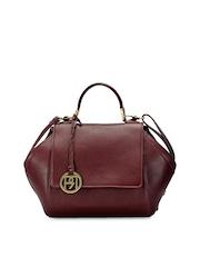 Phive Rivers Maroon Leather Handbag