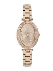 Titan Women Rose Gold-Toned Dial Embellished Watch 95025WM01J
