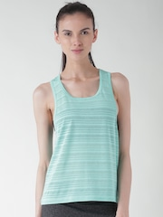 FOREVER 21 Sea Green Self-Striped Tank Top