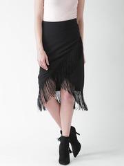 FOREVER 21 Black Fringed Skirt