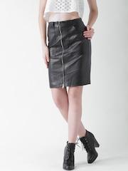FOREVER 21 Black Front Zipper Skirt