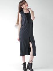 FOREVER 21 Charcoal Grey Midi Dress