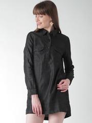 FOREVER 21 Black Shirt Dress