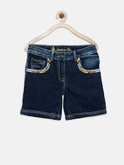 UFO Girls Blue Denim Shorts