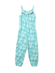 Beebay Girls Turquoise Blue Floral Print Playsuit