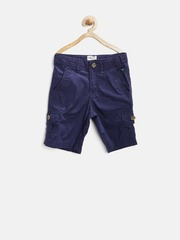 Palm Tree by Gini & Jony Boys Blue Cargo Shorts