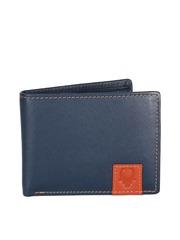 WildHorn Men Navy Genuine Leather Wallet