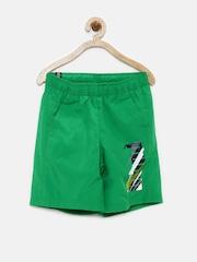 PUMA Boys Green Printed Shorts
