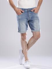 Tommy Hilfiger Blue Washed Tapered Denim Shorts