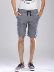Tommy Hilfiger Blue Melange Striped Shorts