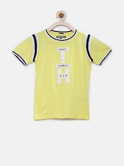 Tommy Hilfiger Boys Yellow Ringer T-shirt
