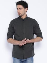 Black Coffee Charcoal Grey Slim Casual Shirt