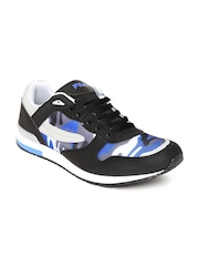 FILA Men Black & Grey Army Camouflage Print Casual Shoes