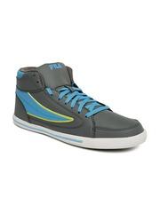 FILA Men Grey & Blue Streetmate II Sneakers