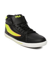 FILA Men Black & Neon Green Streetmate II Casual Shoes