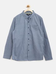 Autograph by Marks & Spencer Boys Blue Geometric Print Shirt