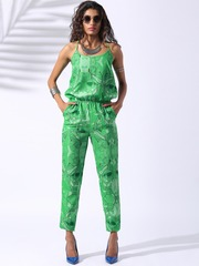 Lokal South Green Hey Taxi Printed Jumpsuit
