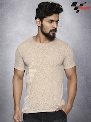 RDSTR Men Beige Printed T-Shirt