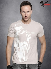 RDSTR Beige MotoGP Washed Printed T-shirt