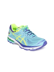 ASICS Women Turquoise Blue GT-1000 4 Running Shoes