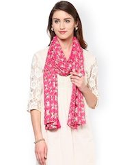 Dupatta Bazaar Pink Embroidered Dupatta