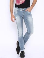 SPYKAR Light Blue Washed Skinny Fit Jeans