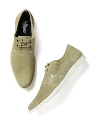 Roadster Men Beige Suede Casual Shoes