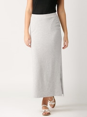 ETHER Grey Melange Maxi Skirt