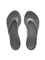 Crocs Women Grey Flip-Flops