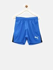 PUMA Boys Blue DryCELL Running Shorts
