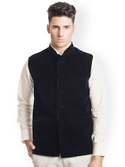 Wintage Black Velvet Nehru Jacket