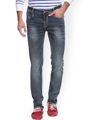 Mufti Charcoal Grey Slim Jeans