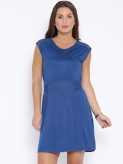 People Blue A-Line Dress