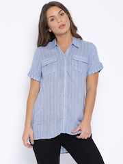 People Blue Checked Shirt