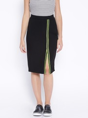 People Black Pencil Skirt