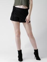 FOREVER 21 Black Shorts with Fringed Belt