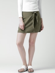 FOREVER 21 Olive Green A-Line Skirt