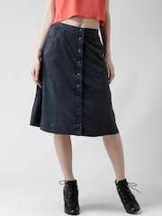 FOREVER 21 Navy Flared Skirt