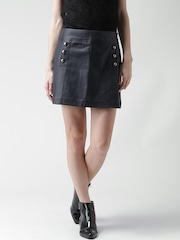 FOREVER 21 Navy Textured A-Line Skirt