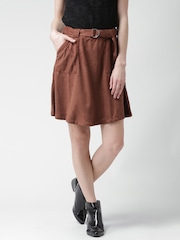 FOREVER 21 Rust Brown A-Line Skirt